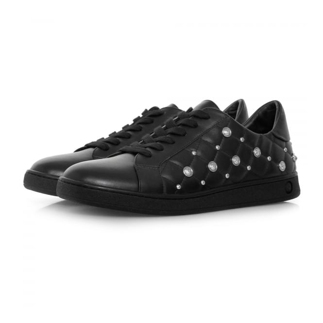 Versus Versace Studded Quilted Black Leather Shoe FSX000C