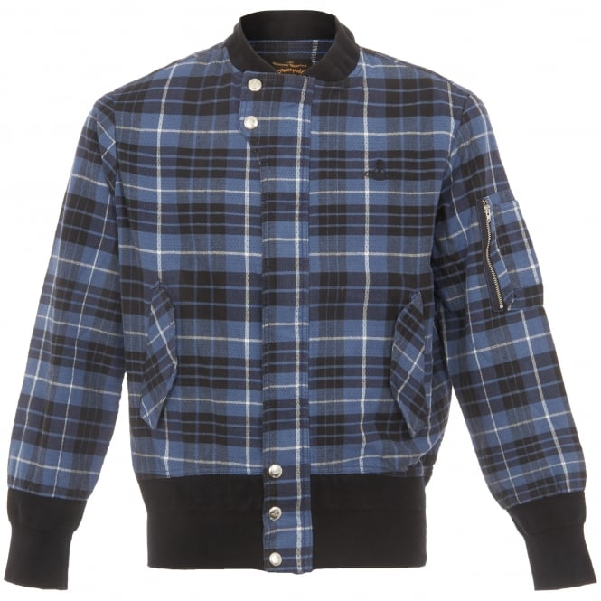 Vivienne Westwood Anglomania Tartan Berry Bomber Jacket 5502J340490