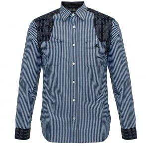 Vivienne Westwood Detailed CLassic Blue Shirt 6228851