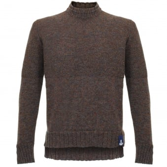 Vivienne Westwood Double Collar Brown Jumper 62288511