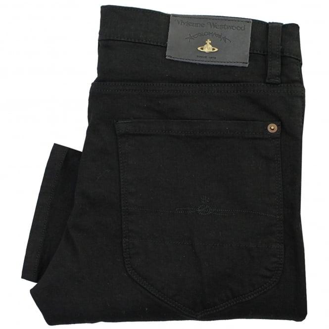 Vivienne Westwood Anglomania Vivienne Westwood Drain Pipe Black Denim Jeans DS0IHG
