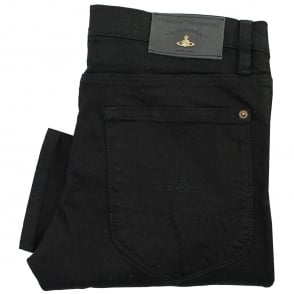 Vivienne Westwood Drain Pipe Black Denim Jeans DS0IHG