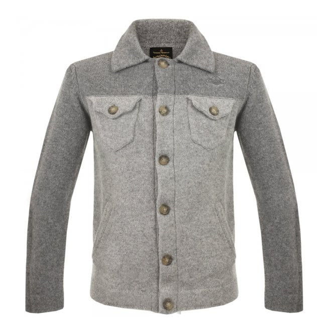 Vivienne Westwood Anglomania Vivienne Westwood Knitted Classic Denim Grey Cardigan 54282552-W97