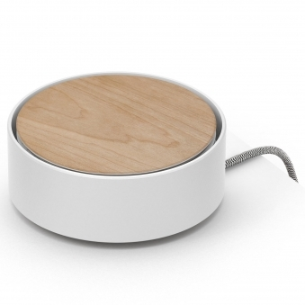 White Eclipse 3-Way USB Charger