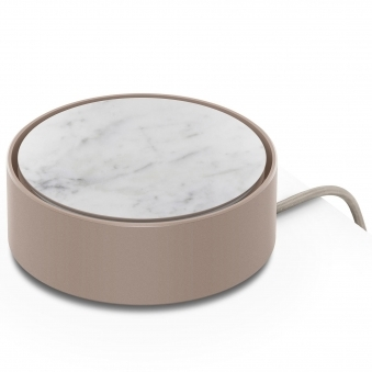 White Marble Eclipse 3-Way USB Charger