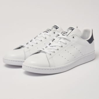 White & Navy Stan Smiths Sneakers
