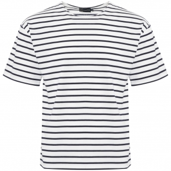 White & Navy Theviec Breton Sailor Shirt