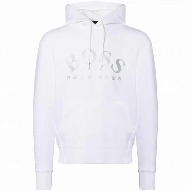BOSS Athleisure White Sly Hooded Sweatshirt