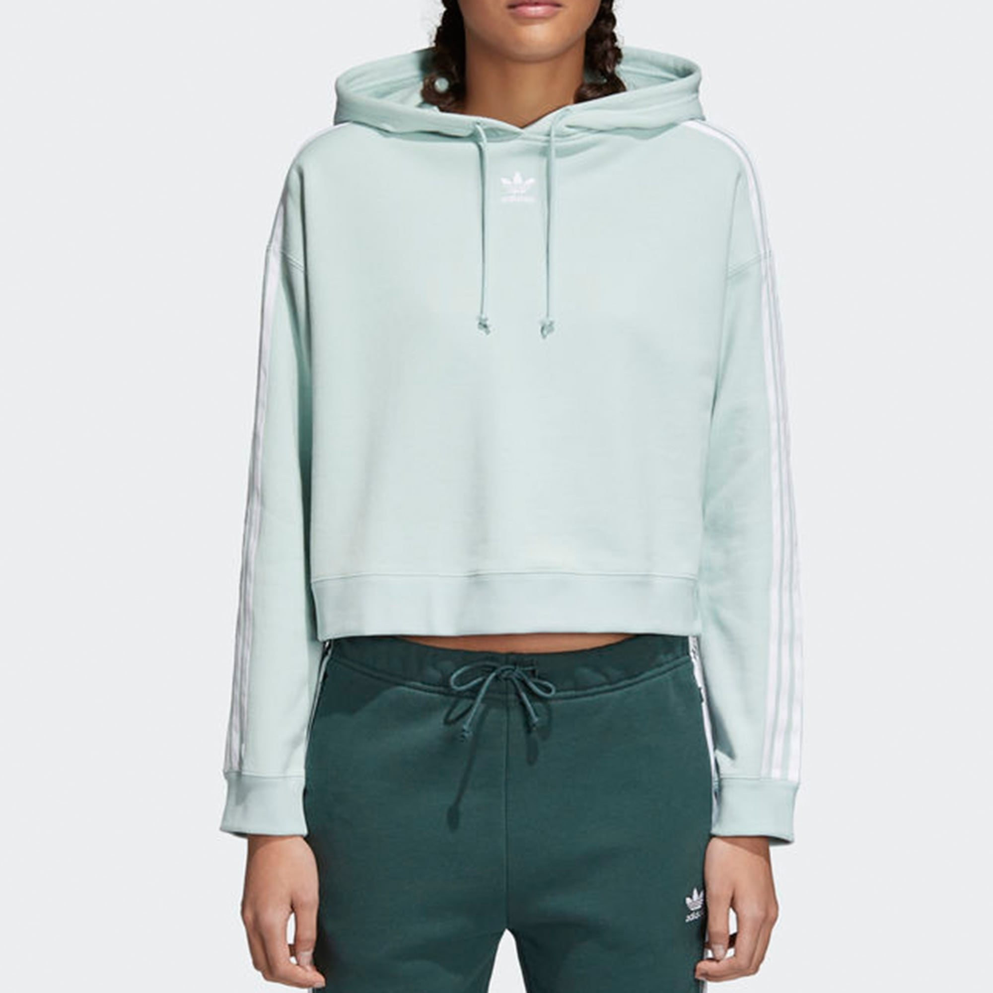 Army Green Cropped Women Hoodies Sweatshirt Drawstring ...  Green Cropped Hoodie