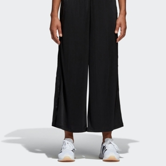 Black Styling Compliments Ribbed Pants