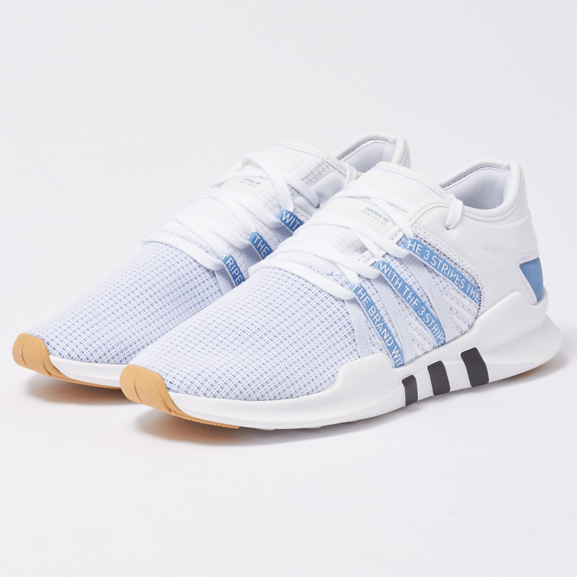 online store ecb2b b15d5 Adidas White  Ash Blue EQT ADV Racing Shoes W CQ2155  US sto