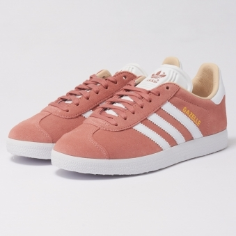 Womens Gazelle Trainers - Ash Pearl