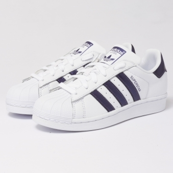 Superstar Trainers - FTWR White & Purple Knight Metallic