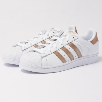 Superstar Trainers - White & Cyber Metallic
