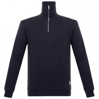 Wood Wood Stanley Dark Navy Zip Sweatshirt 11635601-2082