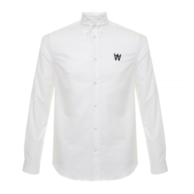 Wood Wood Timothy Bright White Shirt 11635307-1082