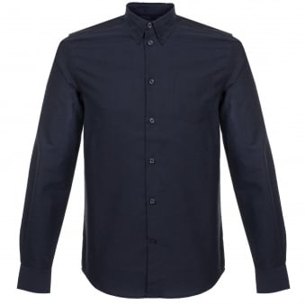 Wood Wood Timothy Navy Shirt 11715307