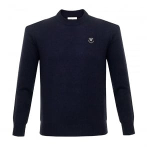 Wood Wood Yale Dark Navy Wool Jumper 11635505-4006