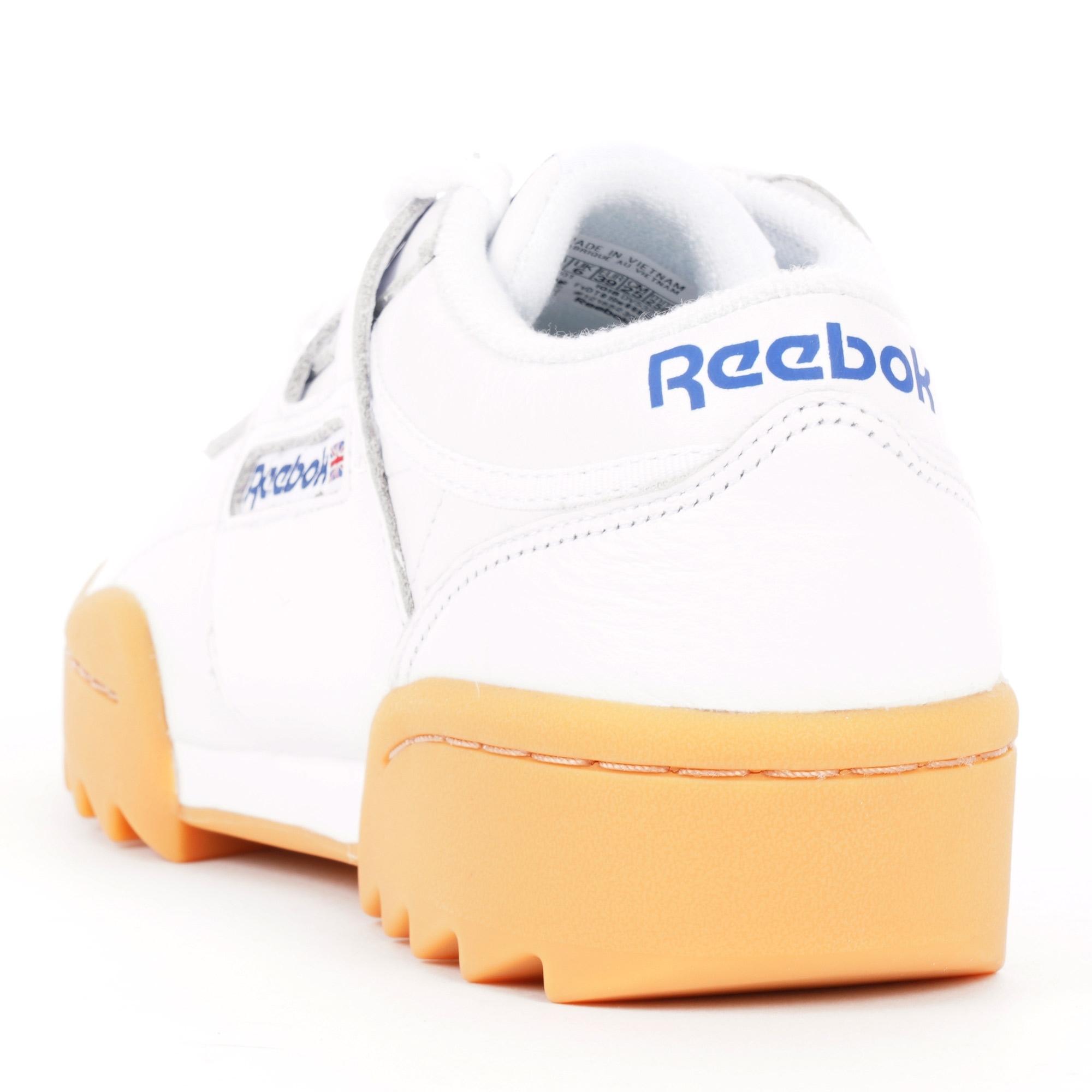 Reebok Workout Ripple OG White, Dark Royal, Red & Gum