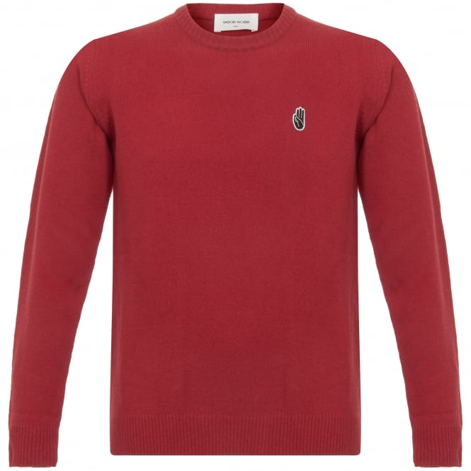 Wood Wood Yale Red Archway Long Sleeve Jumper