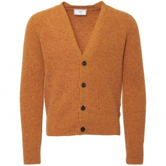 Yellow Fisherman Knit Cardigan